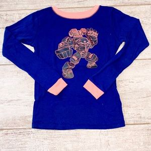 ⭐️3 for $21⭐️ boys pajama top size 12 NAVY BLUE